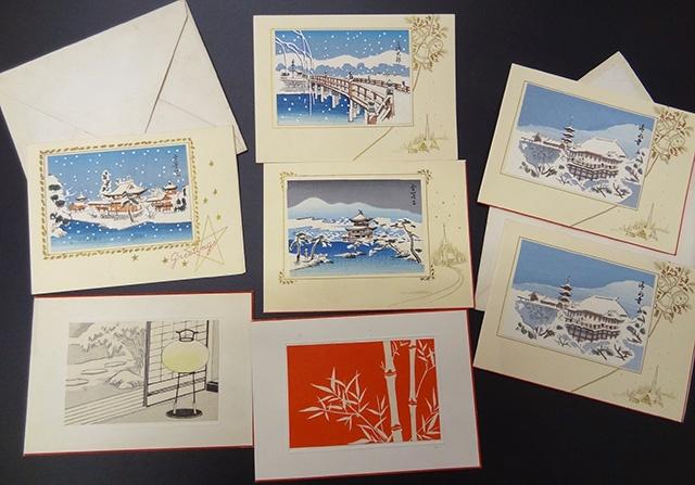 木版画 クリスマスカード