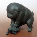 東京都内にて「鋳銅の亀」と称される名工、野上龍起の銅製置物をお譲り頂きました
