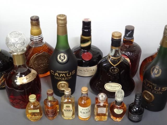 ヘネシーやカミュなどボトル