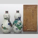 東京都台東区にて、初代 徳田八十吉の九谷焼 南画捻瓢形徳利をお譲りいただきました。