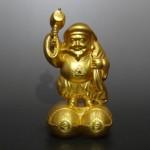 東京都千代田区神田にて、純金の大黒像をお譲りいただきました。