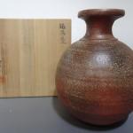 神奈川県鎌倉市にて、三好健太郎の備前壺をお譲りいただきました