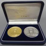 神奈川県川崎市にて、明治百年記念 明治天皇純金純銀メダルをお譲りいただきました。