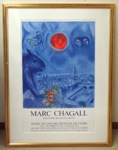 chagall litho poster
