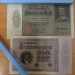 神奈川県川崎市にてドイツの古いマルク紙幣をお譲りいただきました