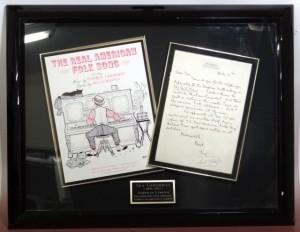 Ira Gershwin letter