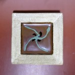 島岡達三 象嵌角皿