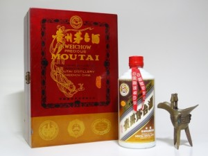 moutai with wooden box