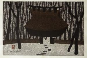 saito kiyoshi woodcut print