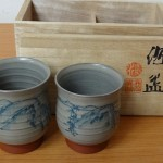 【即日出張!】東京都中央区佃で、人間国宝 五代 伊藤赤水の夫婦湯呑、唐三彩レプリカ、油絵、木版画、リトグラフを買い取りいたしました