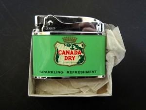 カナダドライジンジャーエールのガスライターをお譲りいただきました[東京都文京区白山・小日向周辺にて]
