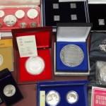 日本や中国の純銀シルバーの記念メダルや硬貨・貨幣などを買い取りいたしました。