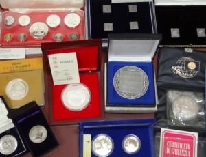 a silver coin medal