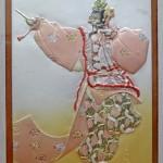 彫金家 帖佐美行による雅楽「蘭陵王」の繊細な額装品をお譲りいただきました@東京都江戸川区