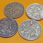 縁起物!ウエディングアイテムでも有名な6ペンス硬貨をお譲りいただきました。