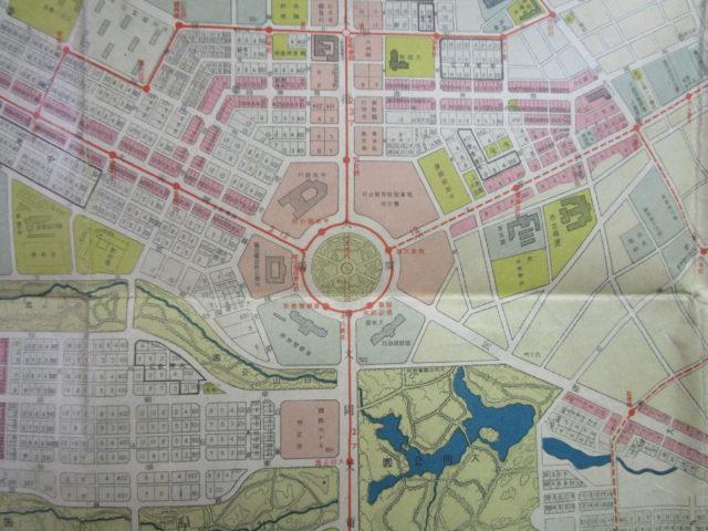 新京市街図
